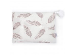 Bambusový polštář 25x35- béžové listí