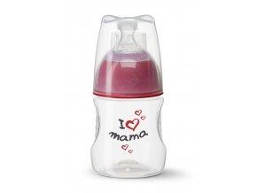 Antikoliková kojenecká láhev 120ml- I love mama