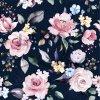 10523 1 podlozka s dekou kvety na modre
