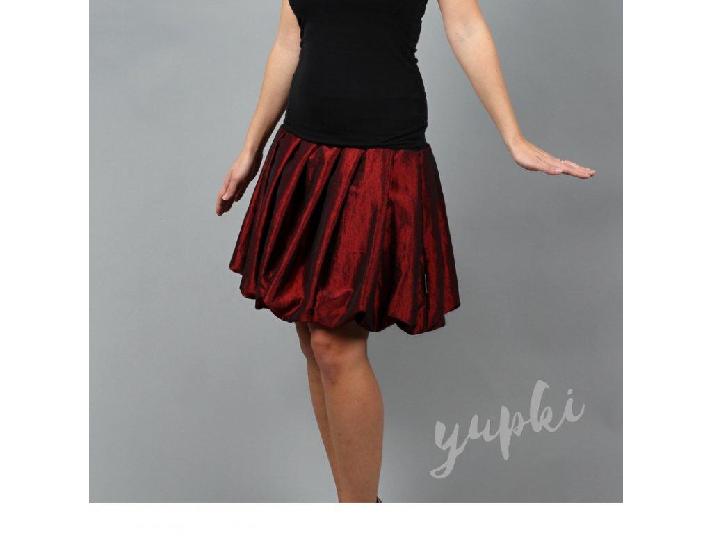 aa1f3d662ce Balonová sukně. yupki bordó