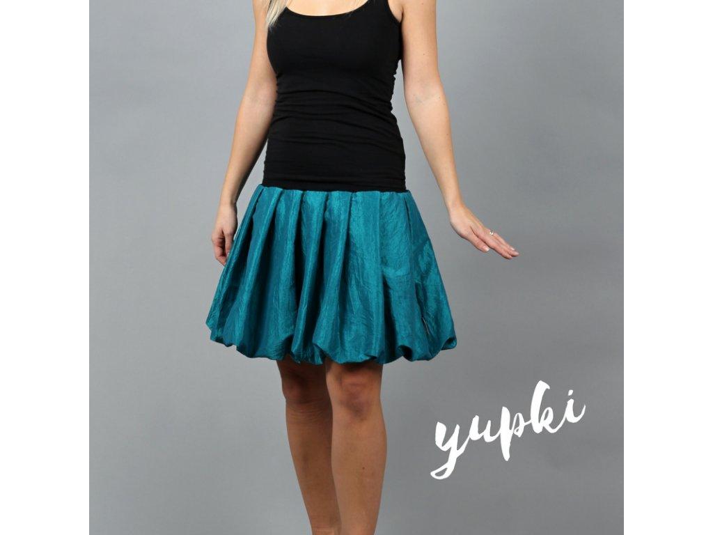 901226929bb Balonová sukně. yupki světle petrolejová