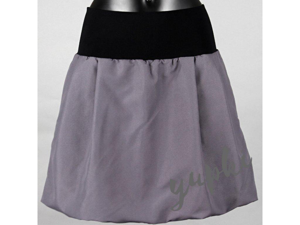 314c8d899ae Balonová sukně šedá s kapsami