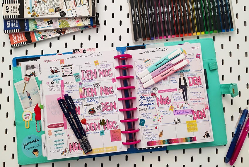 Měsíční layout v mém Happy Planneru