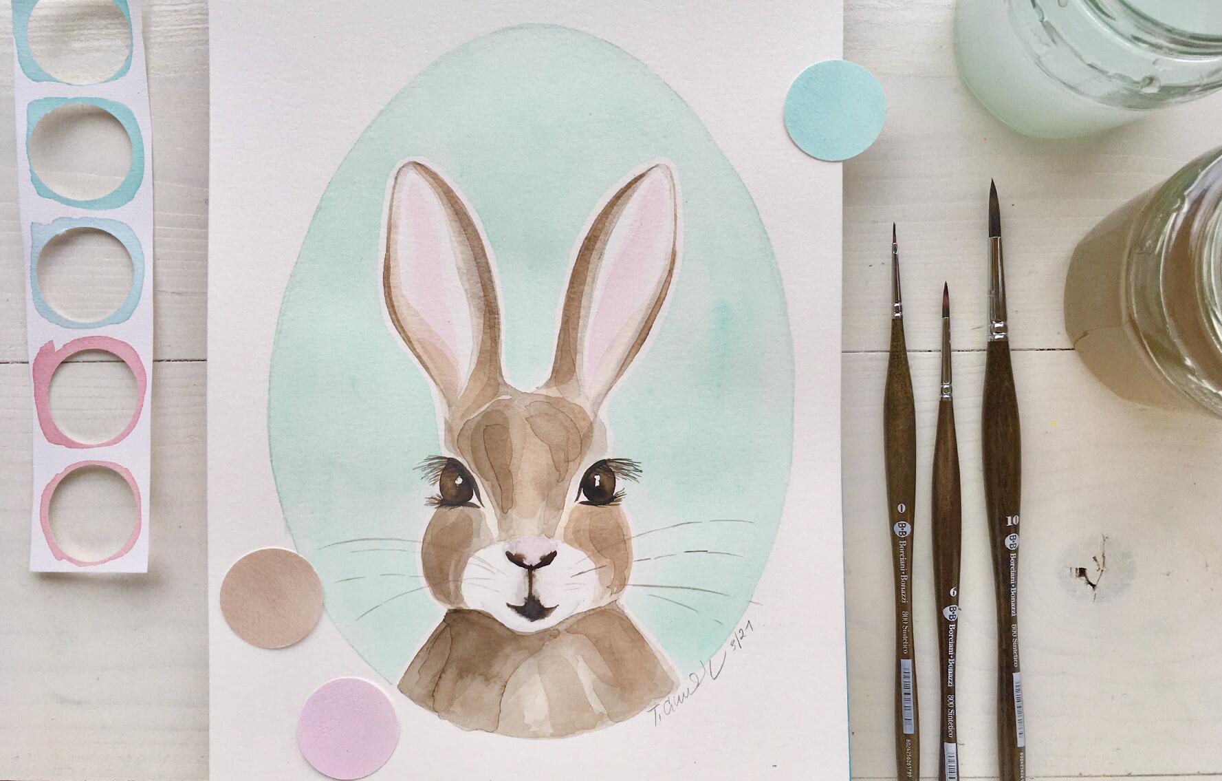 Akvarel krok za krokem: Velikonoční zajíček