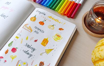 Malování s fixami Crayola: Podzimní motivy