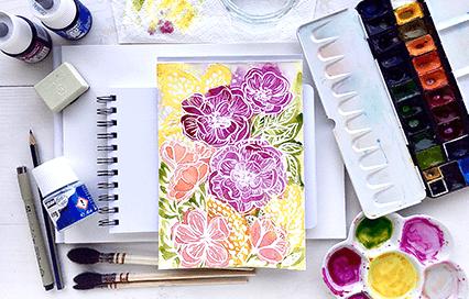 Základní pomůcky pro malování akvarelem