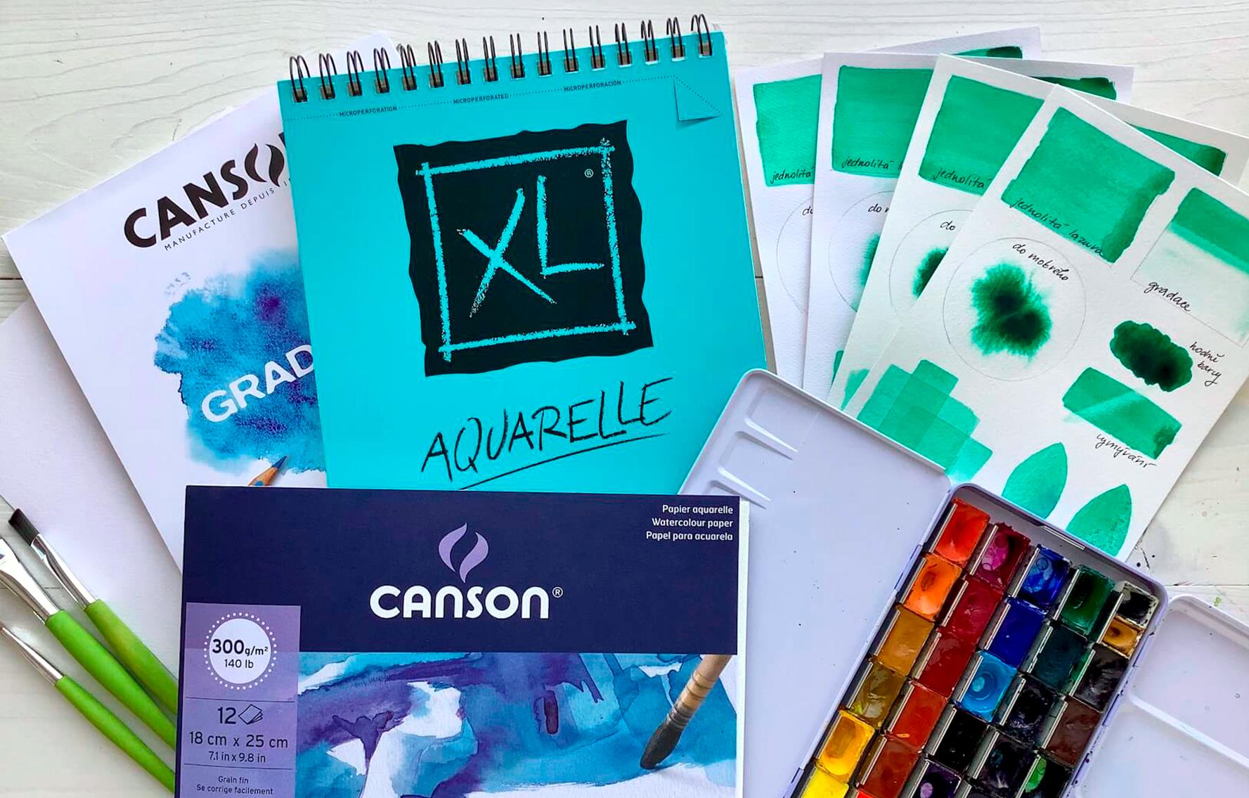 Recenze: Souboj akvarelových papírů Canson