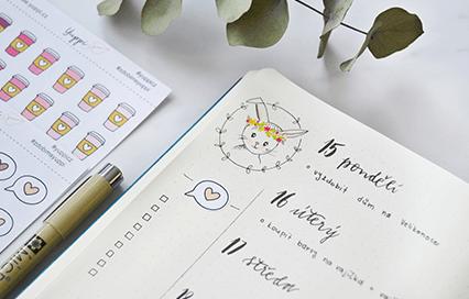 Velikonoční bullet journal: týdenní layout a To Do list ke stažení
