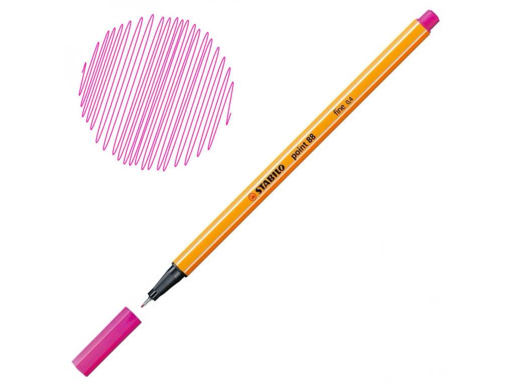 Liner Stabilo Point 88 - růžová
