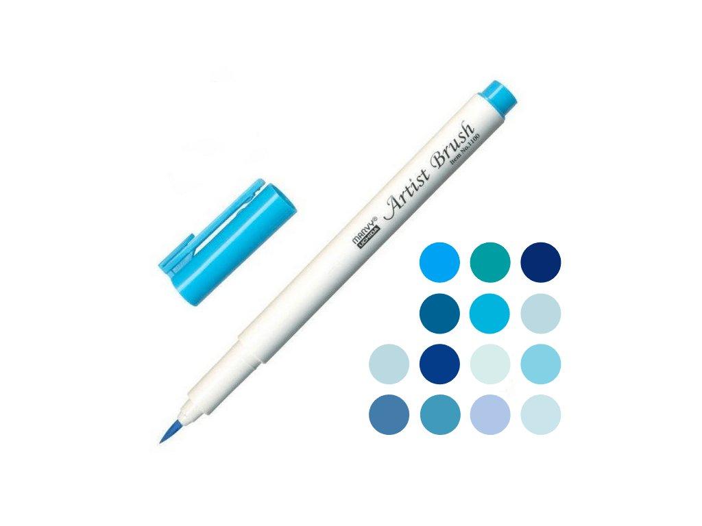 štětcový fix marvy uchida 1100 modrá