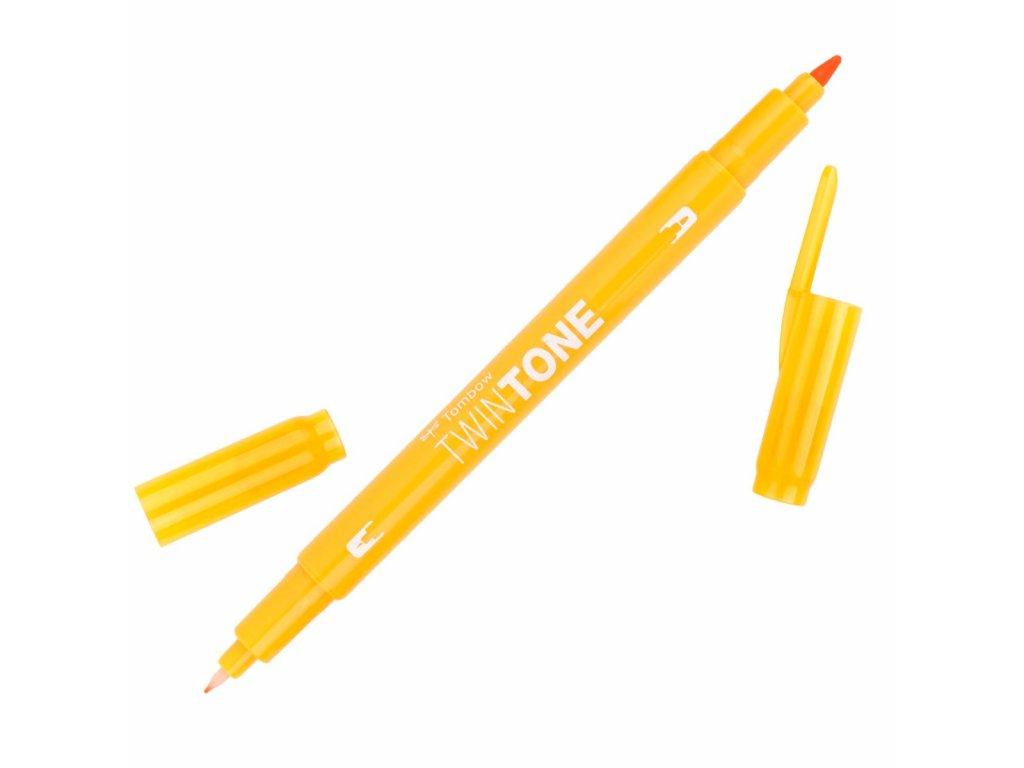 Oboustranný popisovač Tombow TwinTone - žlutá