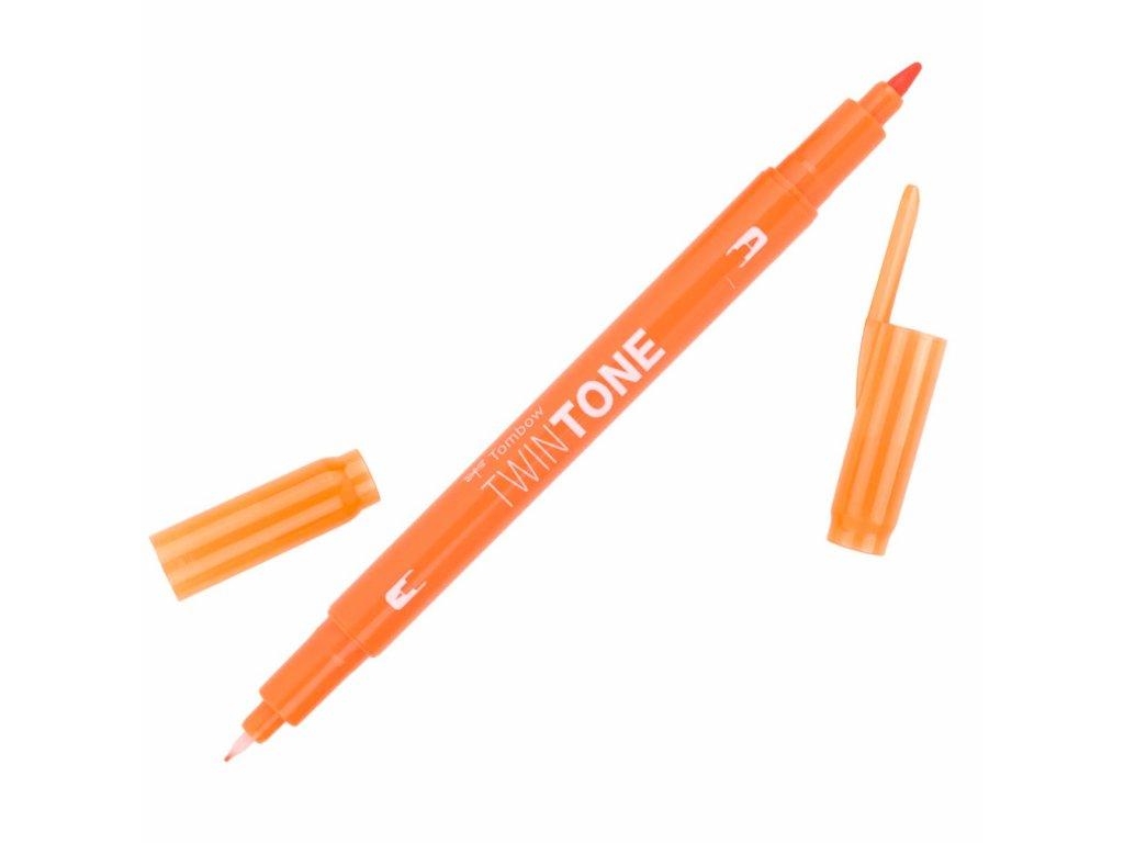 popisovač tombow twintone 28 orange