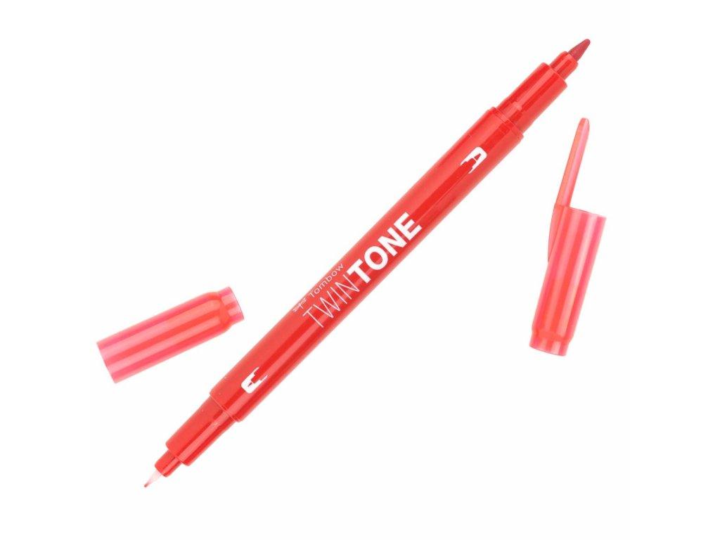 Oboustranný popisovač Tombow TwinTone - červená