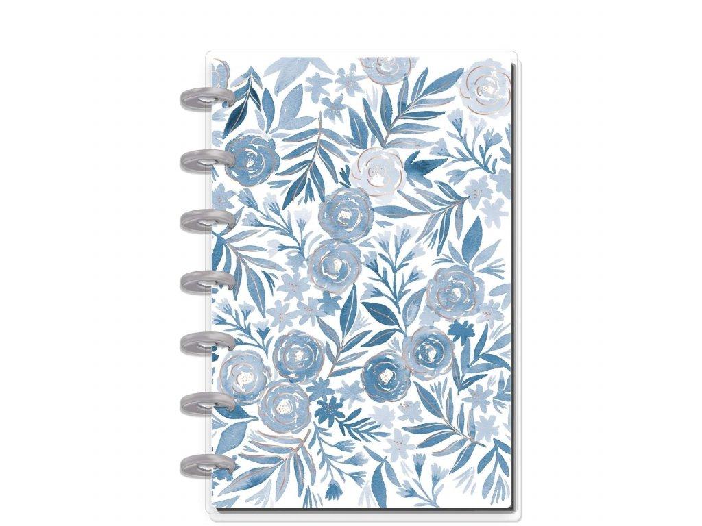 Zápisník Happy Notes MINI Blue Florals