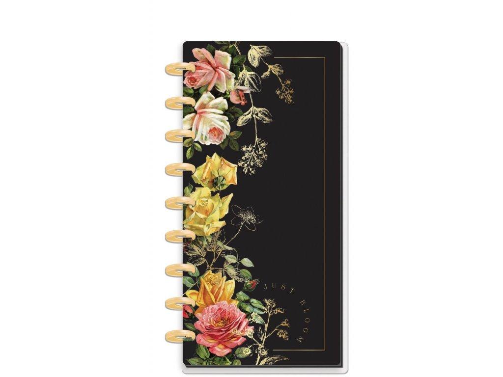 zapisnik happy notes skinny classic dark florals linkovany
