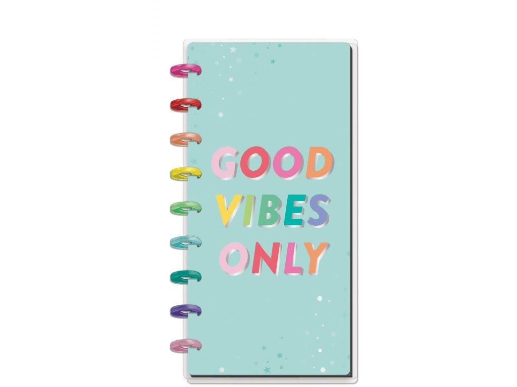 zapisnik happy notes skinny classic good vibes only linkovany