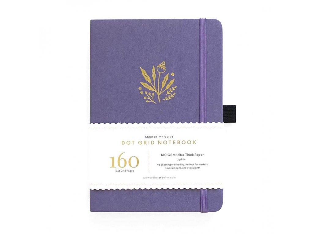 zápisník archer and olive floral details
