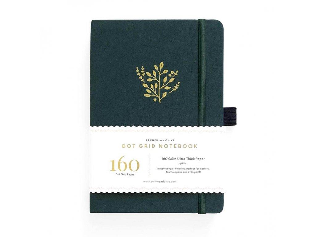zápisník archer and olive deep green