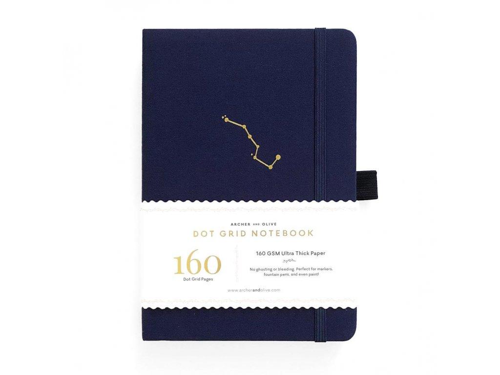 zápisník archer and olive night sky