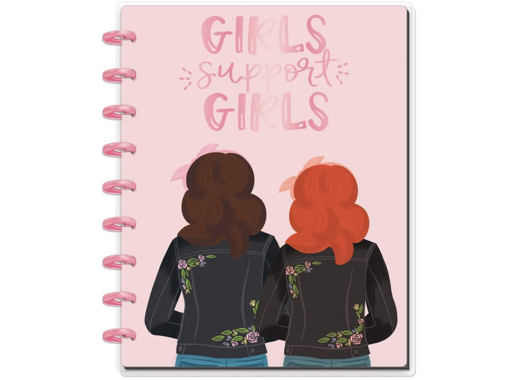Zápisník Happy Notes CLASSIC Girls Support Girls