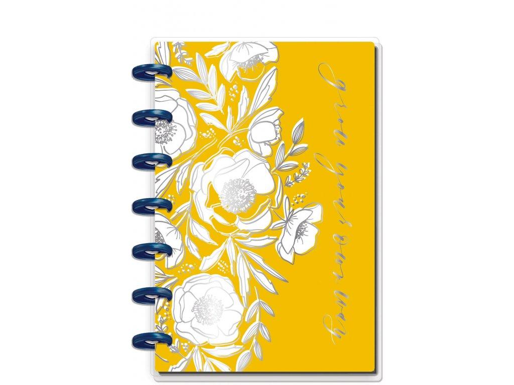 Zápisník Happy Notes MINI Floral Line Art