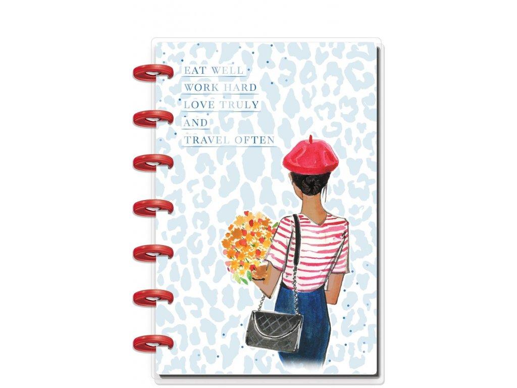 Zápisník Happy Notes MINI Rongrong Travel Often