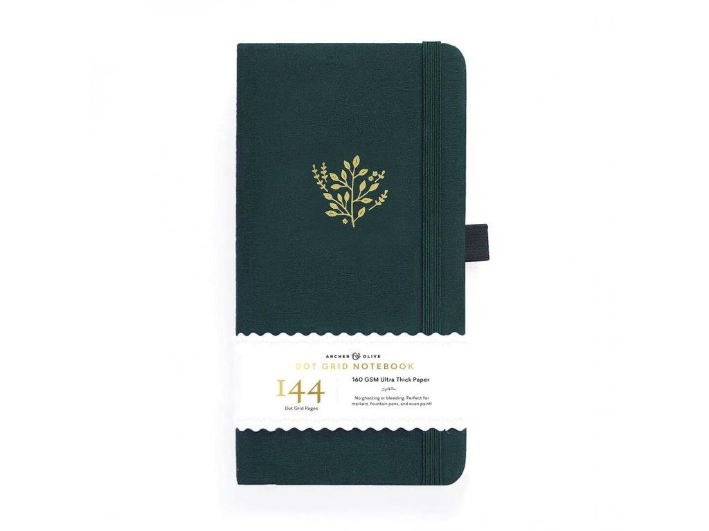Cestovní zápisník Archer & Olive Deep Green