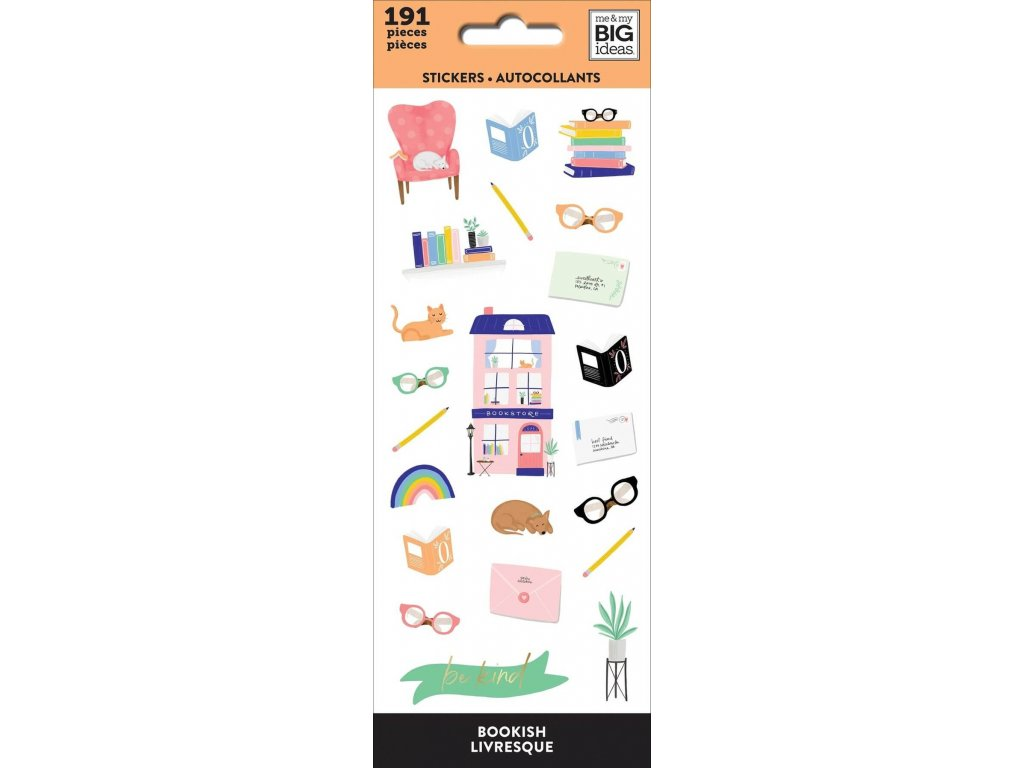 Samolepky Happy Planner Petite Bookish