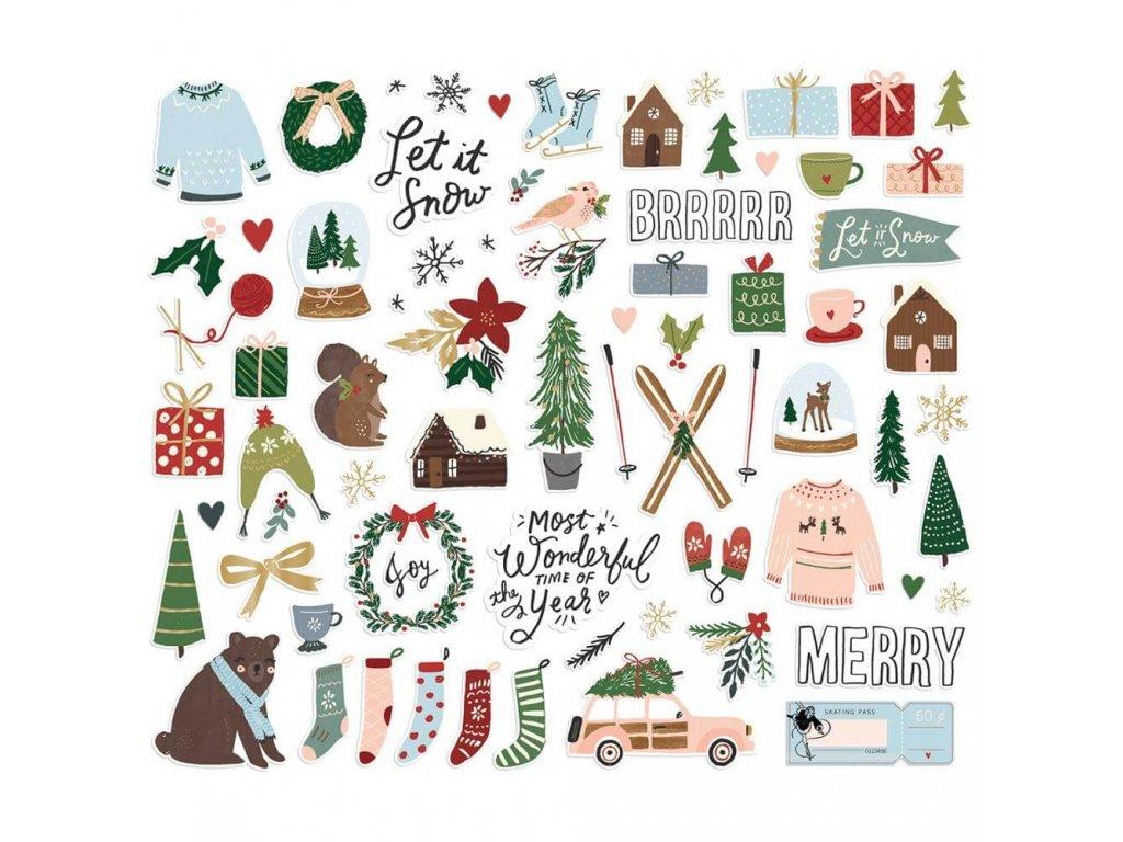 Papírové výseky Simple Stories Winter Cottage