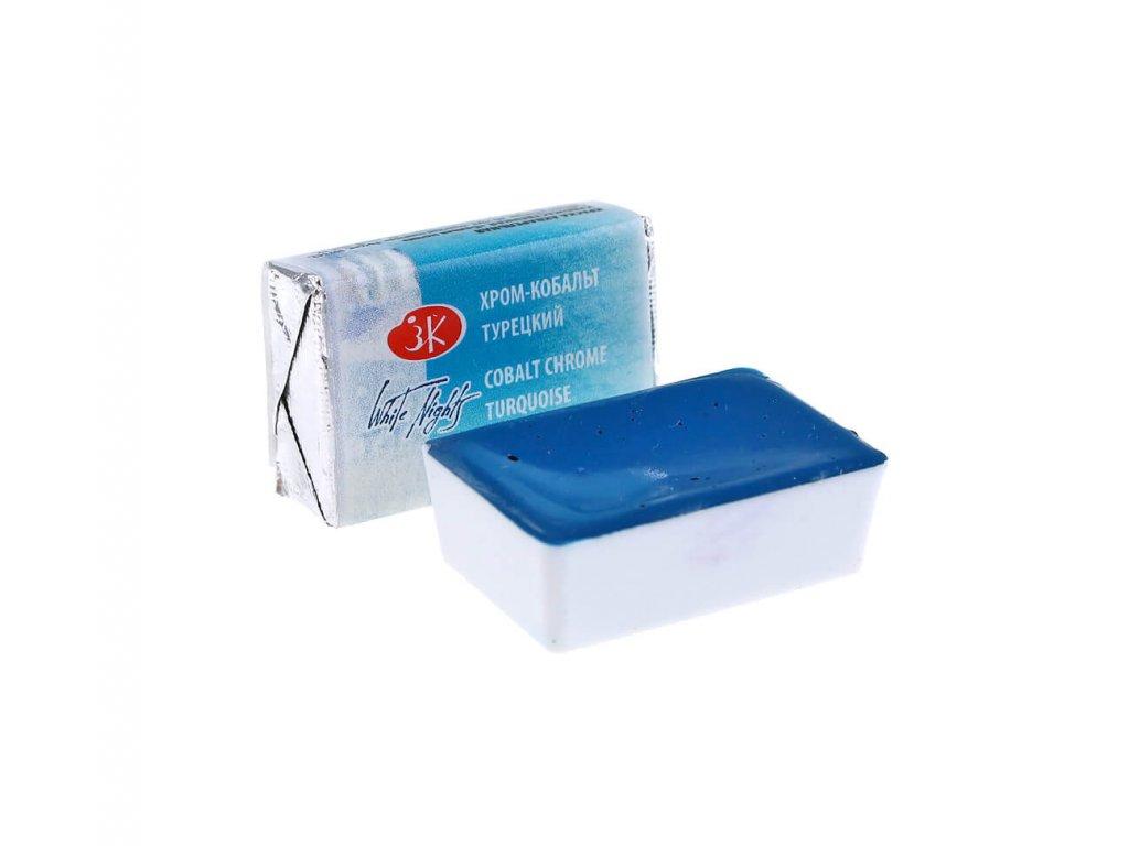 akvarelová barva white nightscobalt chrome turquoise 533
