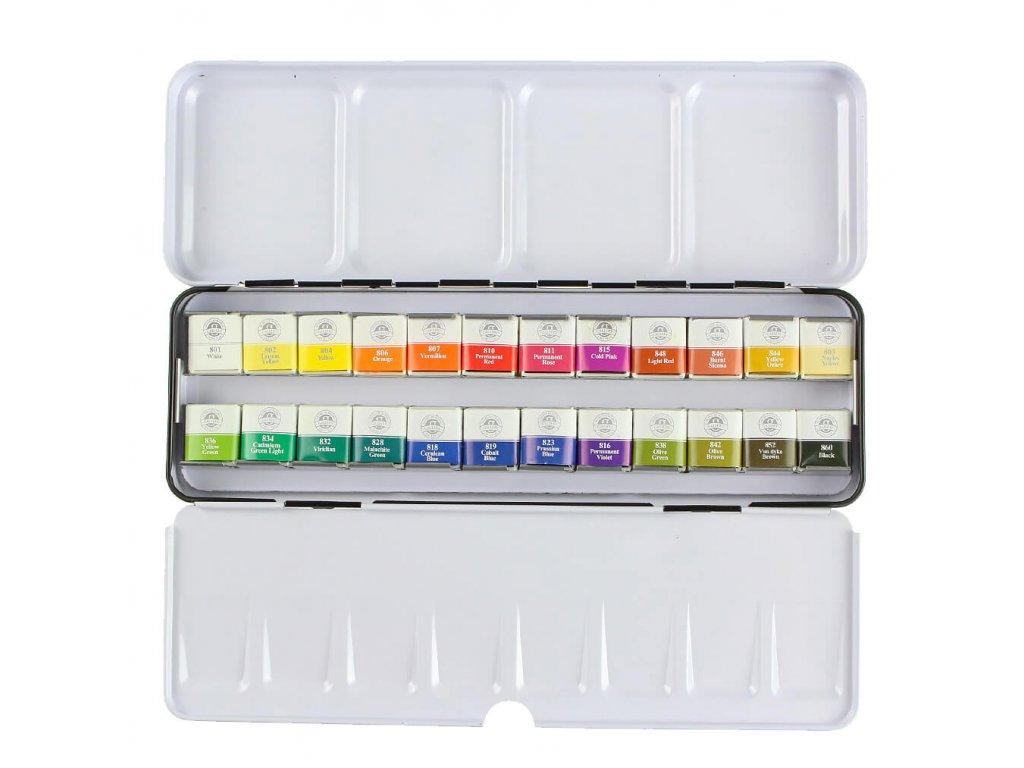 akvarelové barvy mungyo sada 24 ks