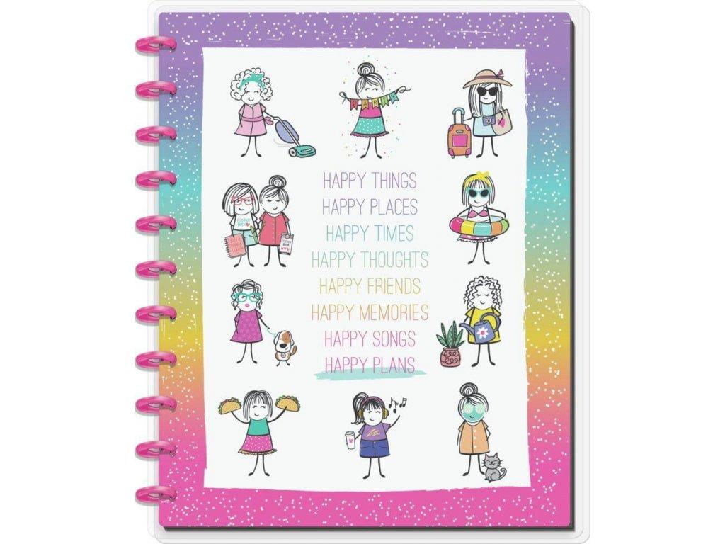 Zápisník Happy Notes BIG Stick Girls Happy Plans