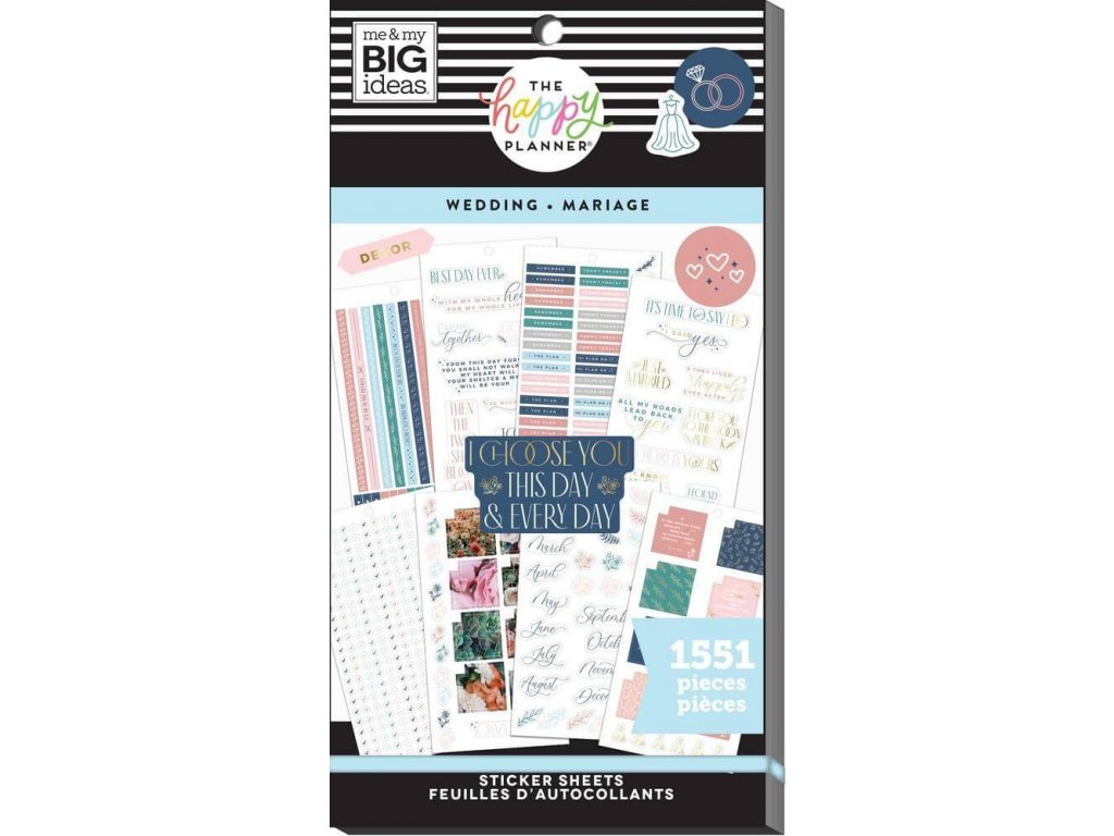 Samolepky Happy Planner Value Pack Wedding