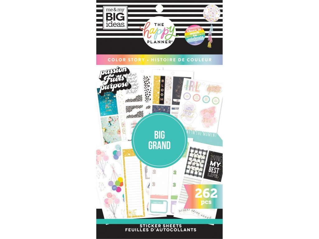 Samolepky Happy Planner BIG Value Pack Colorful Boxes