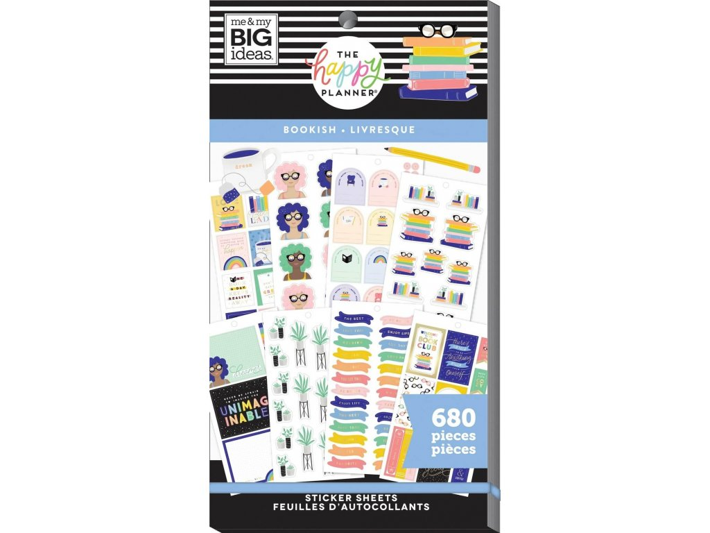 Samolepky Happy Planner Value Pack Bookish