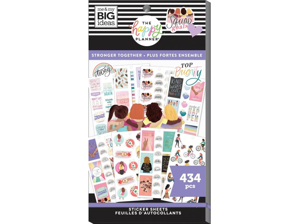 Samolepky Happy Planner Value Pack Stronger Together