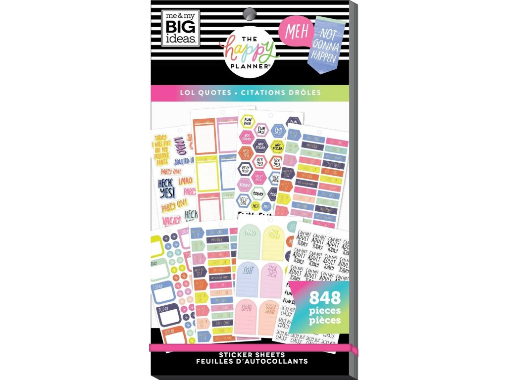 Samolepky Happy Planner Value Pack LOL Quotes