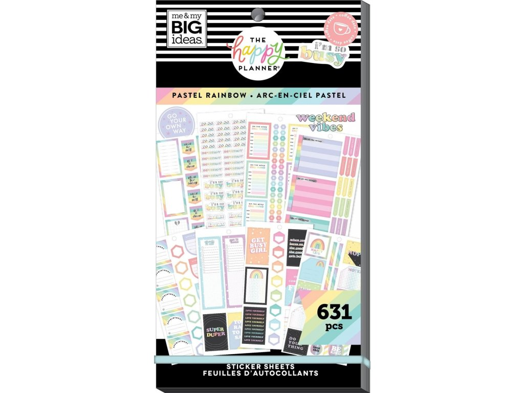Samolepky Happy Planner Value Pack Pastel Rainbow