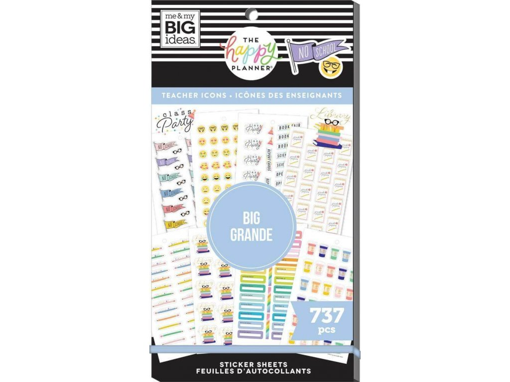 Samolepky Happy Planner BIG Value Pack Icon Teacher