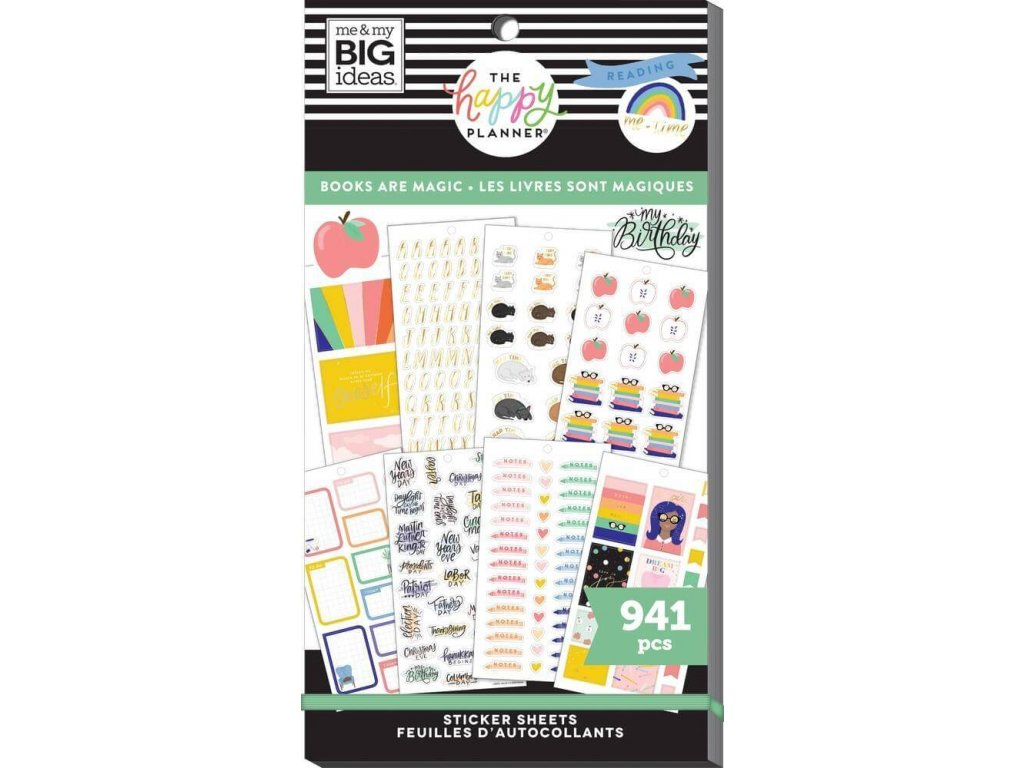 Samolepky Happy Planner Value Pack Books Are Magic