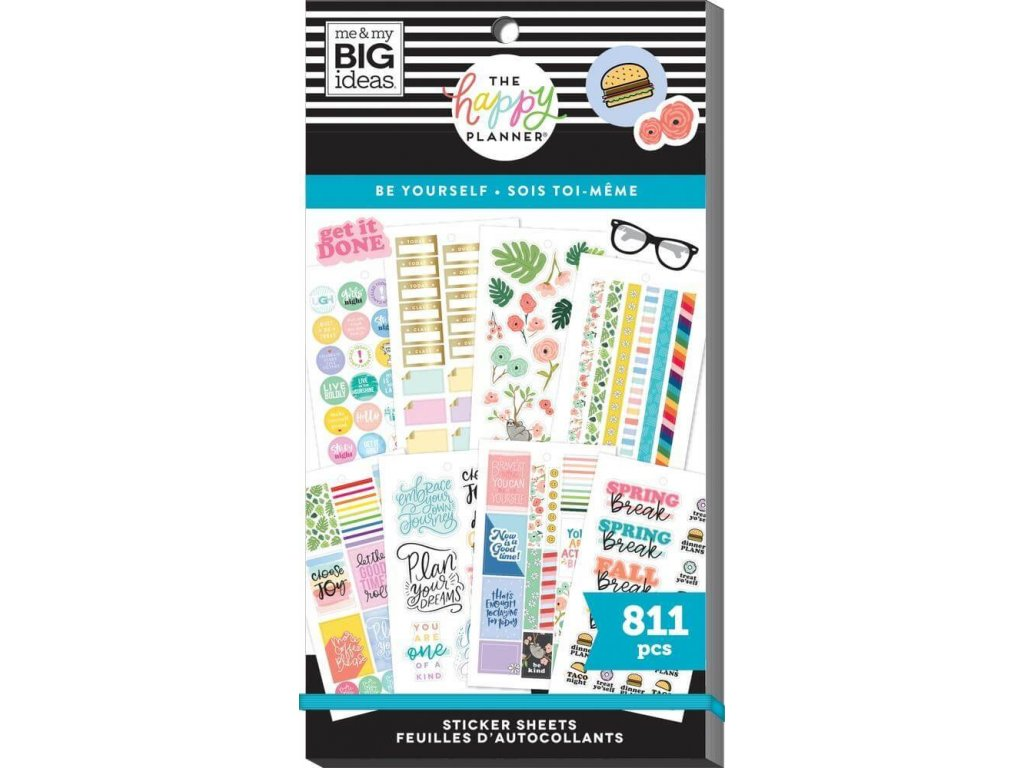 Samolepky Happy Planner Value Pack Be Yourself