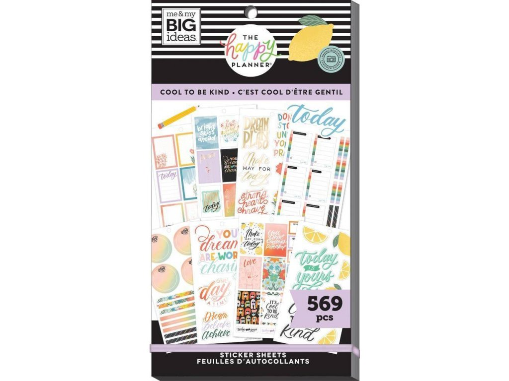 Samolepky Happy Planner Value Pack Cool to Be Kind