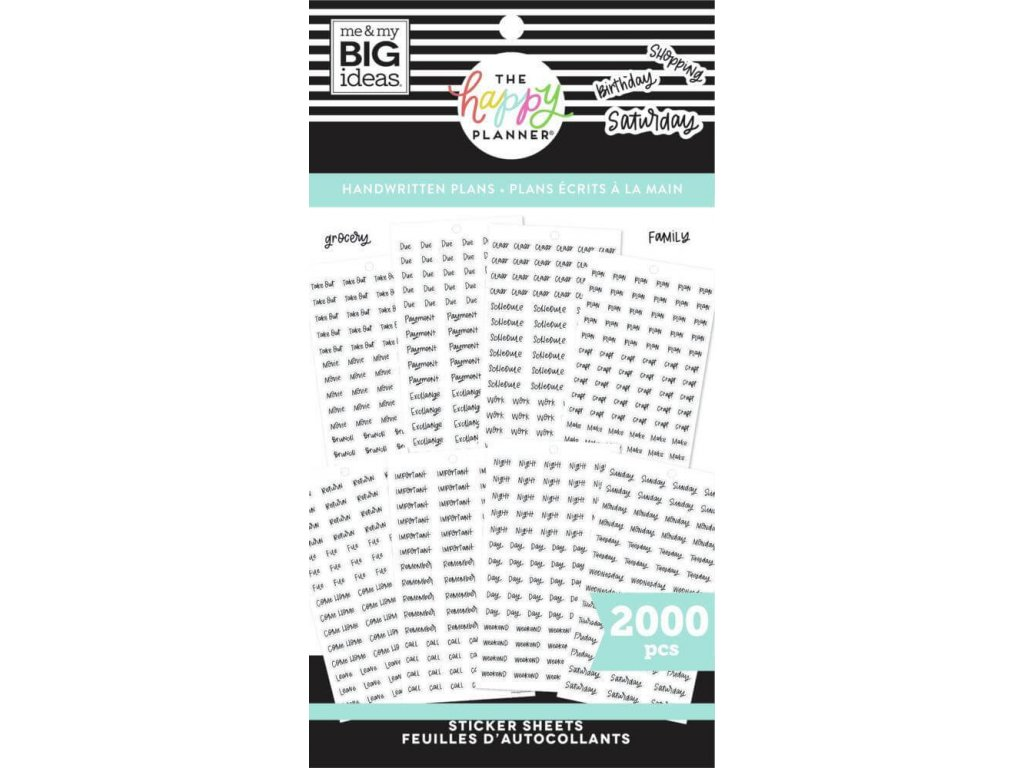 Samolepky Happy Planner Value Pack Handwritten Plans