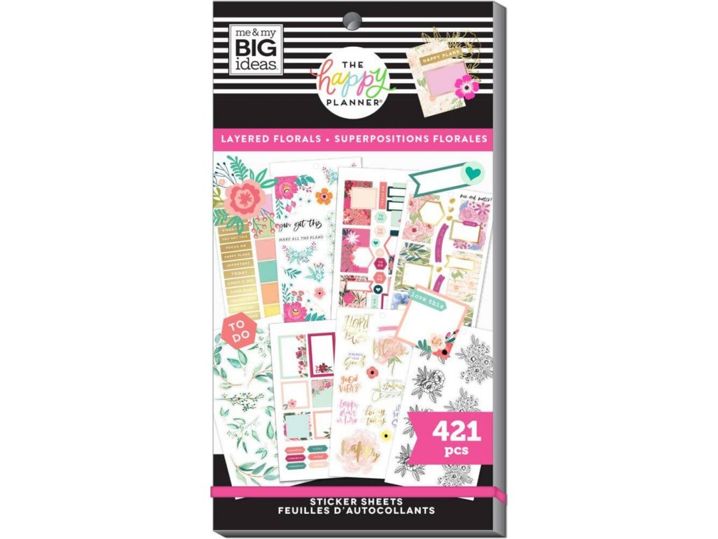 Samolepky Happy Planner Value Pack Layered Florals