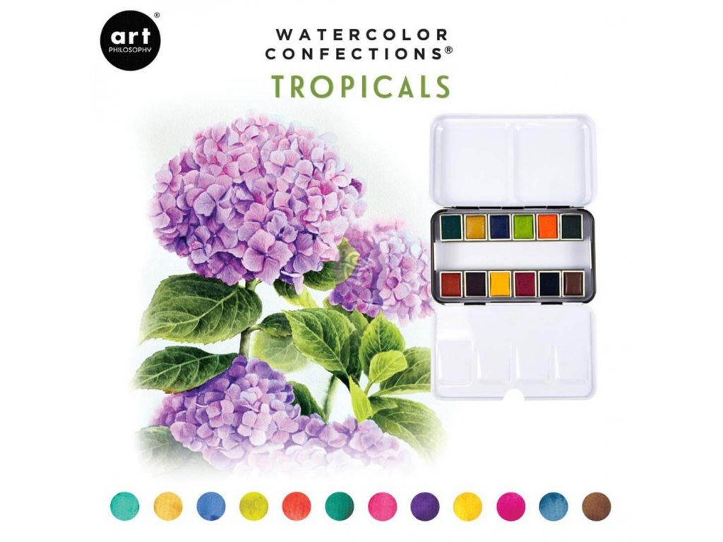 akvarelove barvy art philosophy tropicals sada 12ks