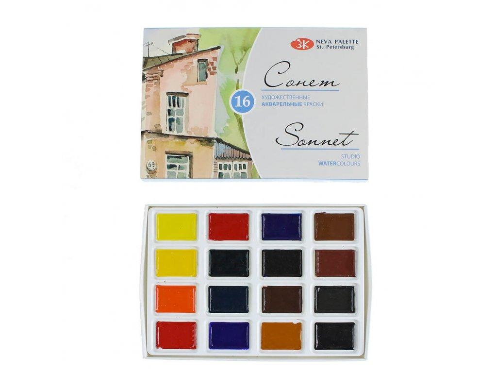 akvarelové barvy Sonner 16 ks