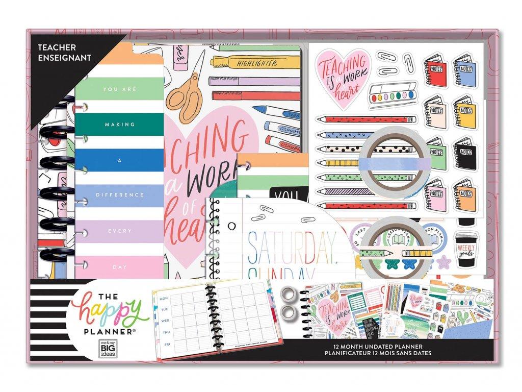 Nedatovaný učitelský diářový kit Happy Planner CLASSIC Work of Heart