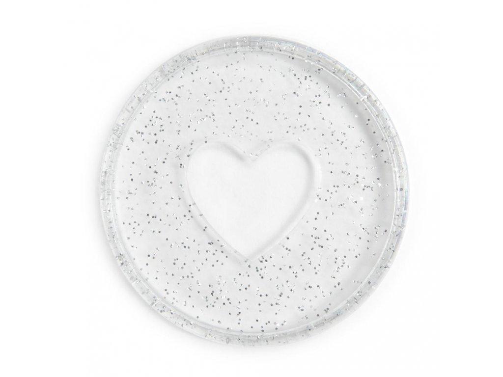 Spojovací disky do diáře Happy Planner 4,4 cm Glitter Silver