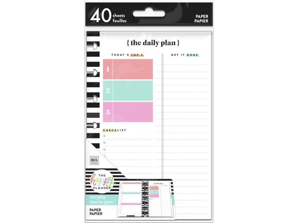 Poznámkové listy Happy Planner MINI Daily Schedule + Notes