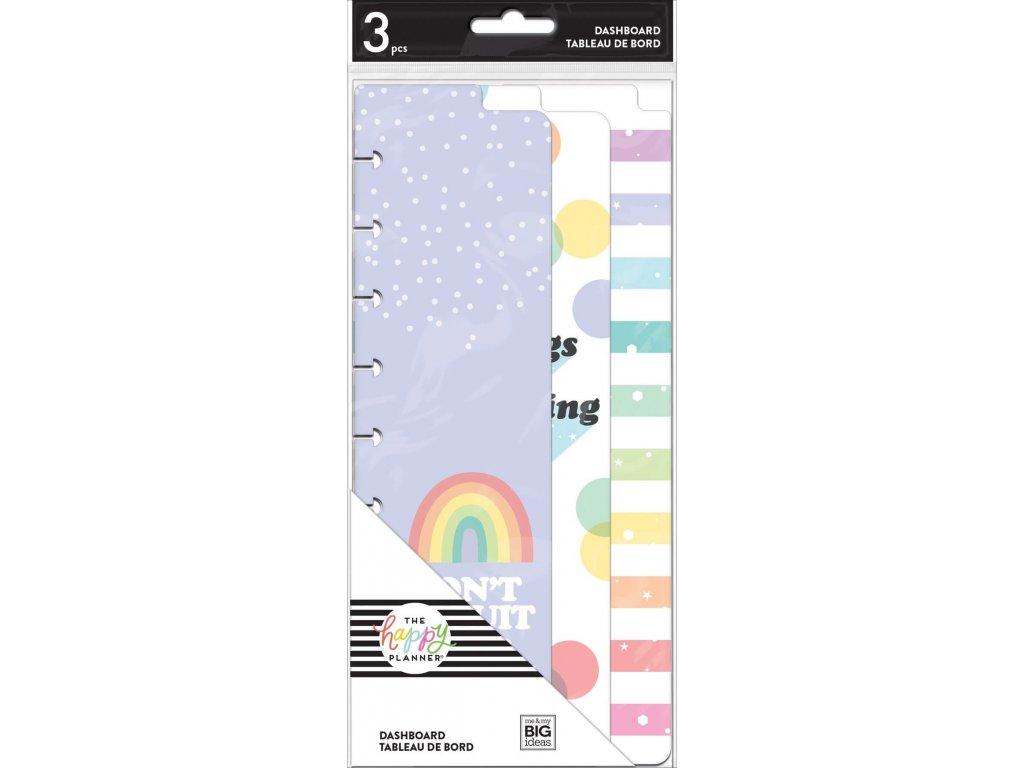Záložky do diáře Happy Planner SKINNY CLASSIC Rainbow